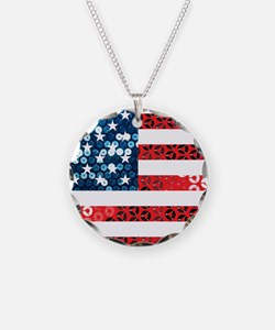Cute Red white blue Necklace