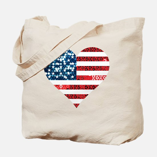 Cute Red white blue Tote Bag
