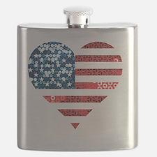 Cute Fourth july Flask