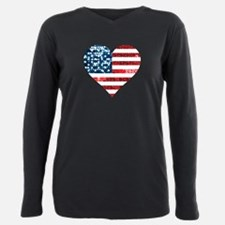 usa flag heart T-Shirt