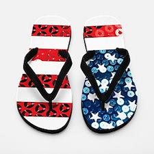 usa flag heart Flip Flops