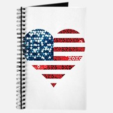 usa flag heart Journal