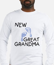 New Great Grandma (blue) Long Sleeve T-Shirt