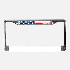 usa flag heart License Plate Frame