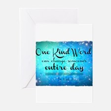 One Kind Word Greeting Cards