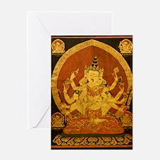 Akshobhya Wisdom Buddha Greeting Cards