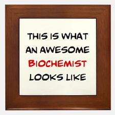 awesome biochemist Framed Tile
