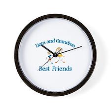 Liam & Grandma - Best Friends Wall Clock