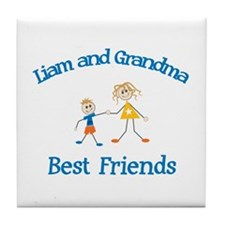 Liam & Grandma - Best Friends Tile Coaster