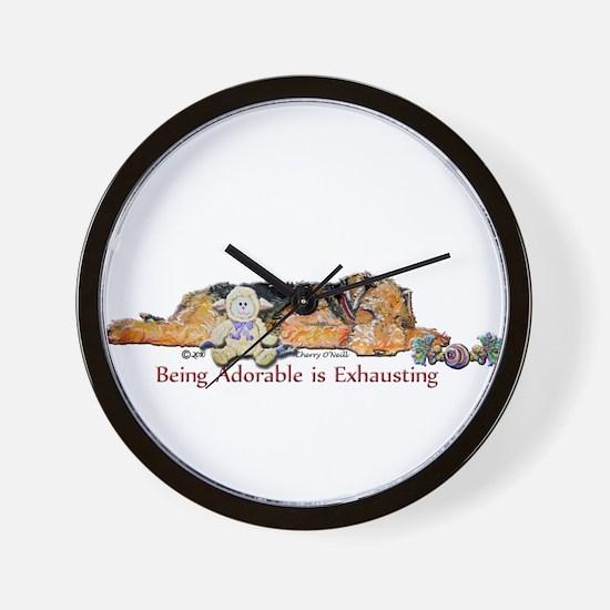 Sleepy Airedale Wall Clock