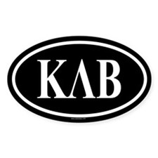 KAPPA LAMBDA BETA Oval Decal