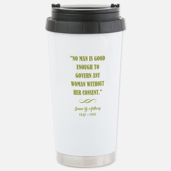 NO MAN IS... Travel Mug