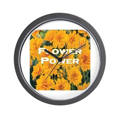 Coreopsis Flower Power Wall Clock