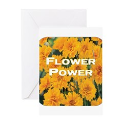 Coreopsis Flower Power Greeting Card