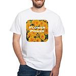 Coreopsis Flower Power White T-Shirt