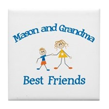 Mason & Grandma - Best Friend Tile Coaster