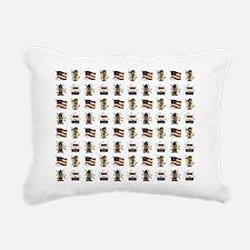 AMERICANA Rectangular Canvas Pillow