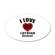 I Love My Latvian Husband Wall Sticker
