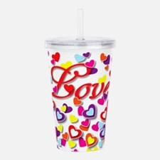 Gallery Of Hearts Acrylic Double-Wall Tumbler
