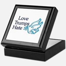 Love Trumps Hate Keepsake Box