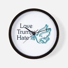Love Trumps Hate Wall Clock