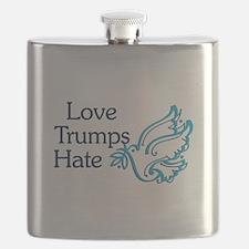 Love Trumps Hate Flask