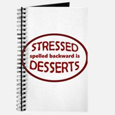 Stressed is Desserts logo -red Journal