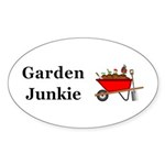 Garden Junkie Sticker (Oval 50 pk)