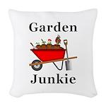 Garden Junkie Woven Throw Pillow