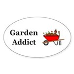 Garden Addict Sticker (Oval 10 pk)