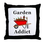 Garden Addict Throw Pillow