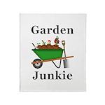 Garden Junkie Throw Blanket