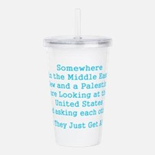 Jew and Palestinian - Acrylic Double-wall Tumbler