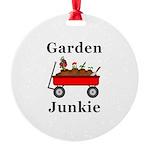 Garden Junkie Round Ornament