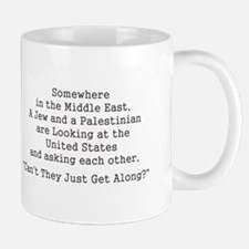 Jew and Palestinian - Black Mugs