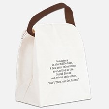 Jew and Palestinian - Black Canvas Lunch Bag