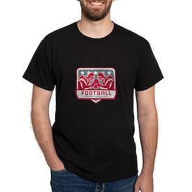 American Football Championship Crest Retro T-Shirt