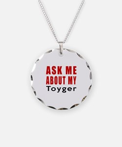 Ask Me About My Toyger Cat D Necklace