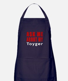 Ask Me About My Toyger Cat Designs Apron (dark)