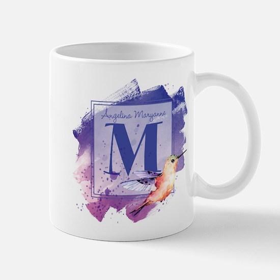MONOGRAM Artistic Hummingbird Mugs