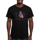 Nurse Fitted T-shirts (Dark)