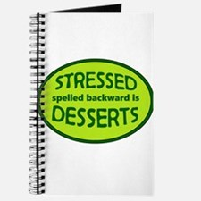 Stressed is Desserts logo -green Journal