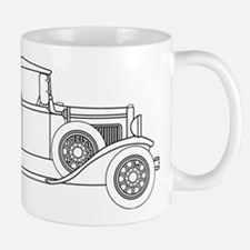 Early Motor Car Outline Mugs