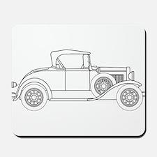 Early Motor Car Outline Mousepad