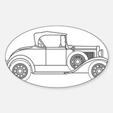 Early Motor Car Outline Decal
