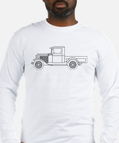 Early Pickup Truck Outline Long Sleeve T-Shirt