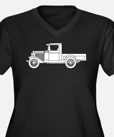 Early Pickup Truck Outline Plus Size T-Shirt