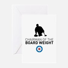 Chairman of the board weight Greeting Cards
