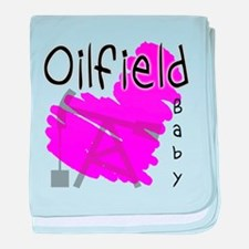 Oilfield Baby Oil Heart baby blanket