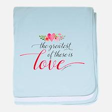 Greatest Love baby blanket
